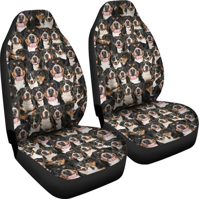 Greater Swiss Mountain Dog Full Face Car Seat Covers
