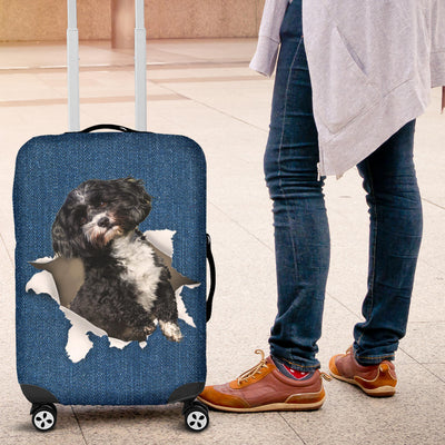 Havanese Torn Paper Luggage Covers