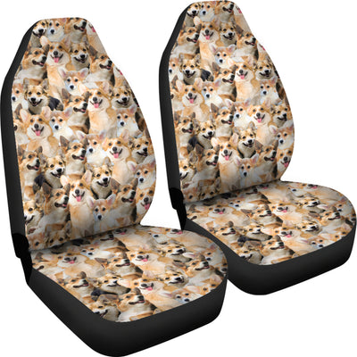 Welsh Corgi Full Face Car Seat Covers