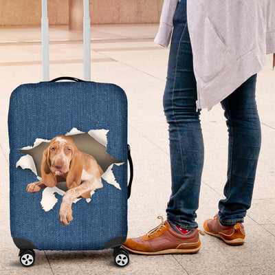Bracco Italiano Torn Paper Luggage Covers