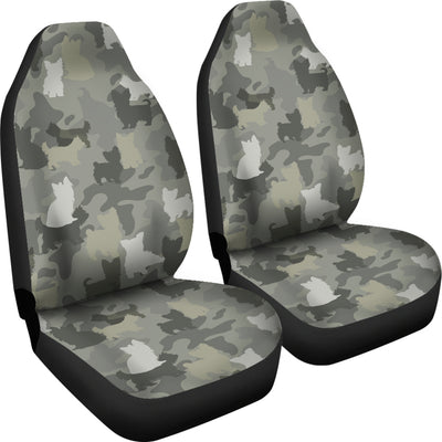 Yorkshire Terrier Camo Car Seat Covers