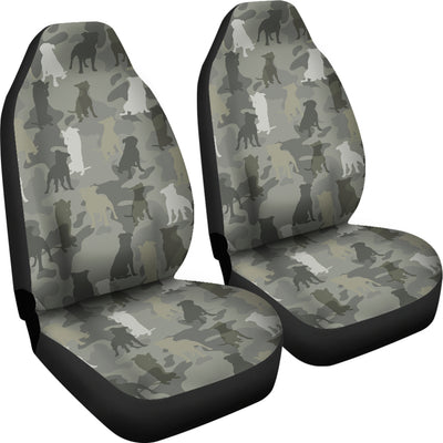 Staffordshire Bull Terrier Camo Car Seat Covers