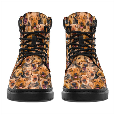 Airedale Terrier Full Face All-Season Boots