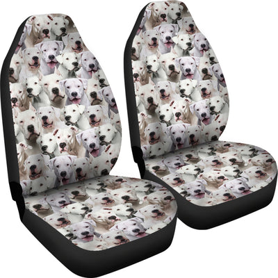 Dogo Argentino Full Face Car Seat Covers
