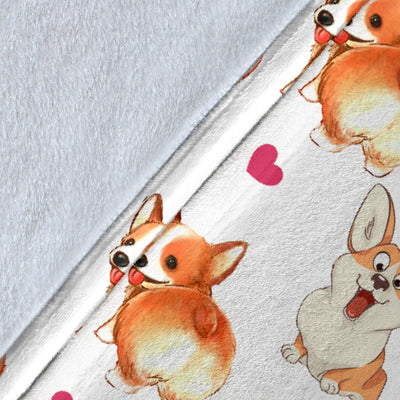 Pembroke Welsh Corgi Heart Blanket