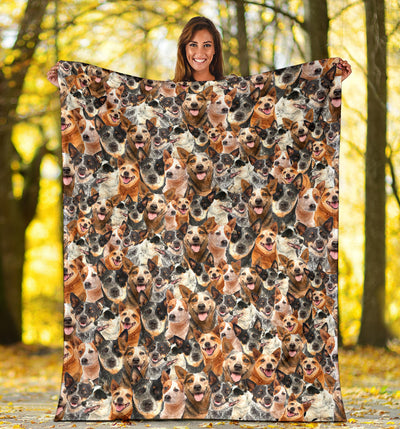 Australian Cattle Dog Full Face Blanket