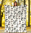 Border Collie Paw Blanket