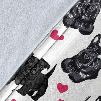 Scottish Terrier Heart Blanket