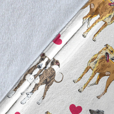 Greyhound Heart Blanket