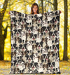 Border Collie Full Face Blanket