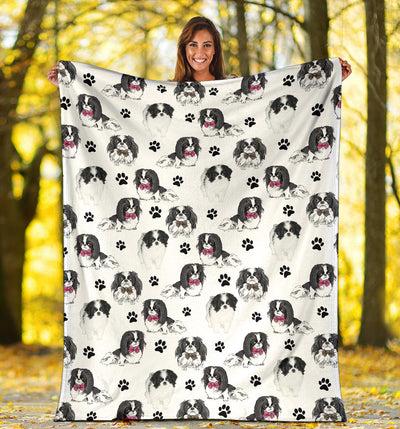 Japanese Chin Paw Blanket