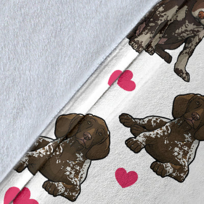 German Shorthaired Pointer Heart Blanket