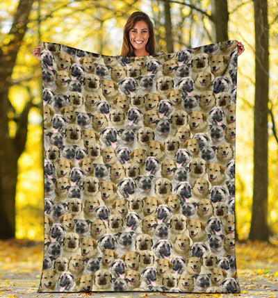 Anatolian Shepherd Full Face Blanket