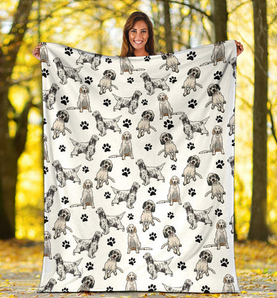 English Setter Paw Blanket