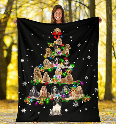 English Cocker Spaniel Christmas Tree