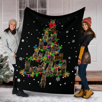 Kai Ken Christmas Tree Blanket