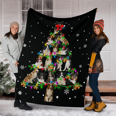 Border Collie Christmas Tree