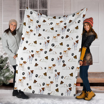 Smooth Fox Terrier Paw Blanket