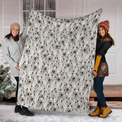 Berger Blanc Suisse Full Face Blanket