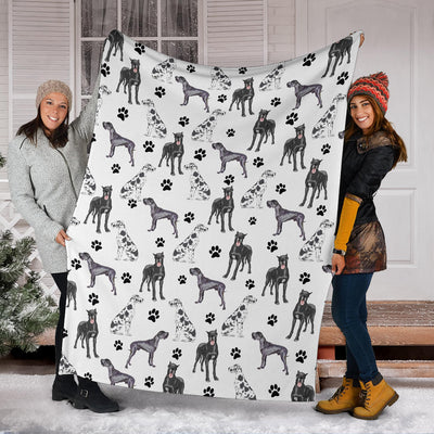 Great Dane Paw Blanket
