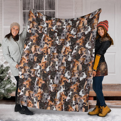 Italian Greyhound Full Face Blanket