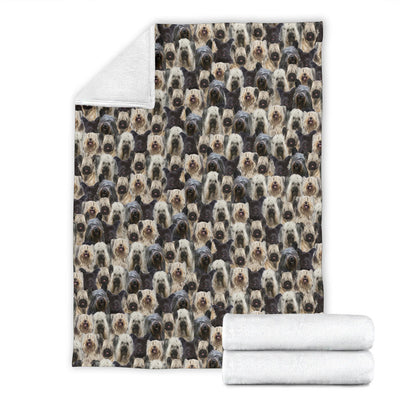 Skye Terrier Full Face Blanket