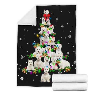 West Highland White Terrier Christmas Tree Blanket