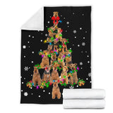 Welsh Terrier Christmas Tree Blanket