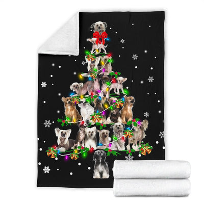 Chinese Crested Dog Christmas Tree