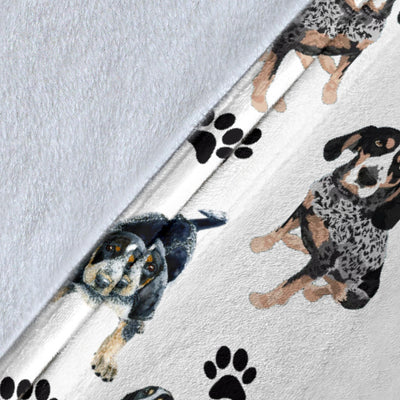 Bluetick Coonhound Paw Blanket