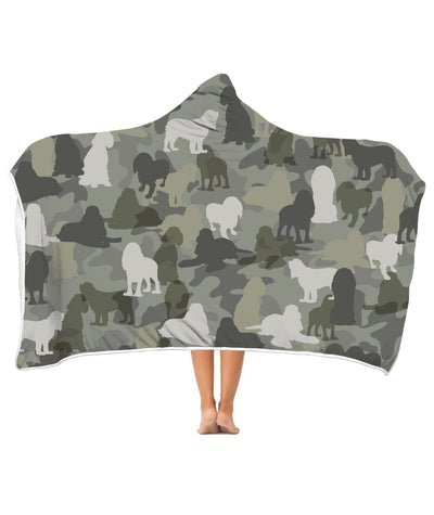 Cocker Spaniel Camo 3D Hooded Blanket
