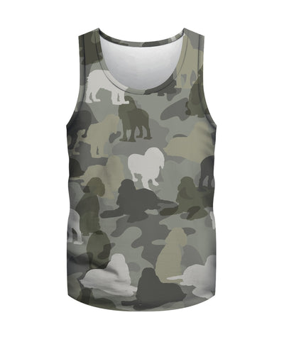 Cocker Spaniel Camo 3D Men's Tank Top