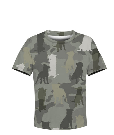 Staffordshire Bull Terrier Camo 3D Kid T-shirt