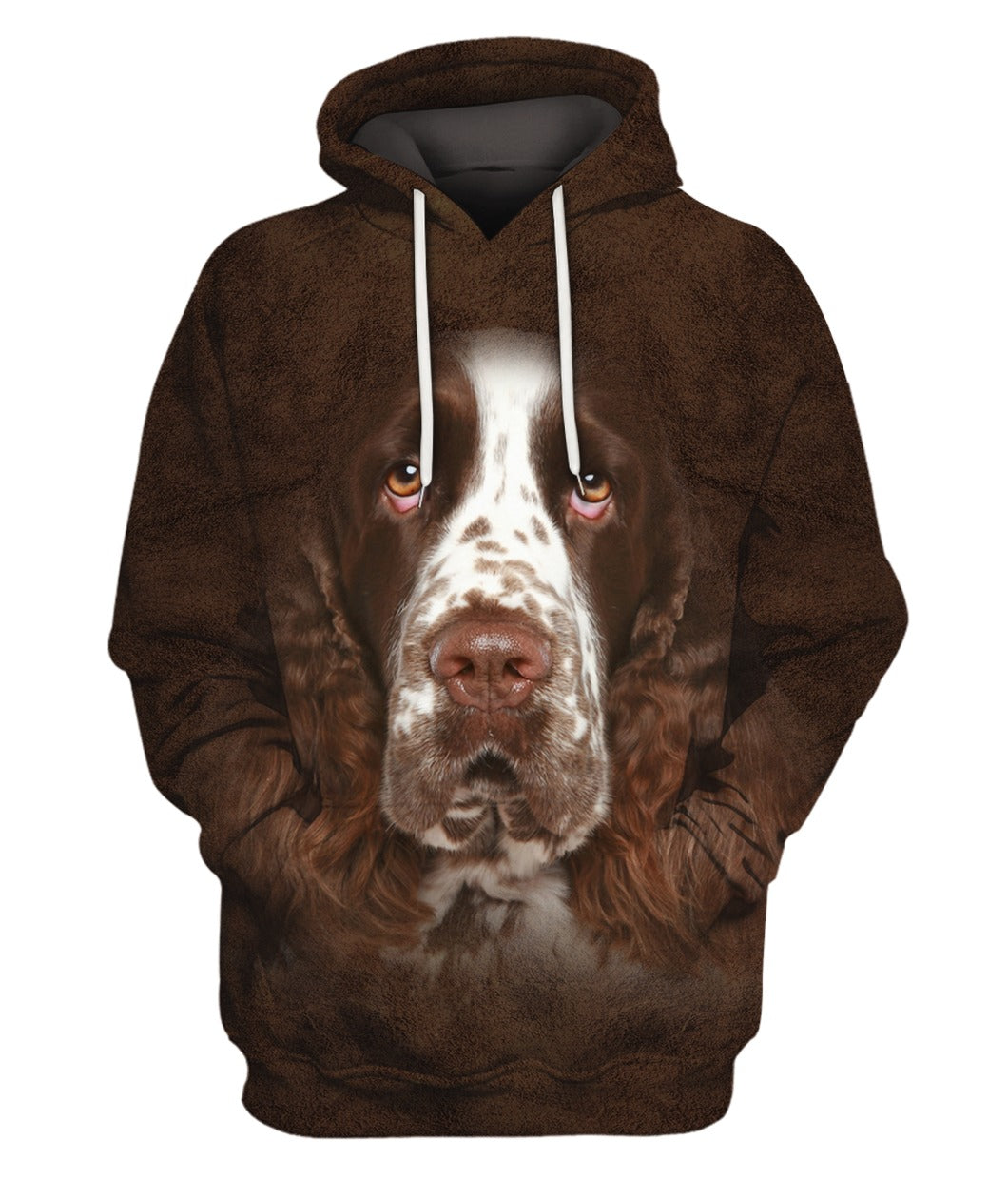 English Springer Spaniel Face Hair Hoodie