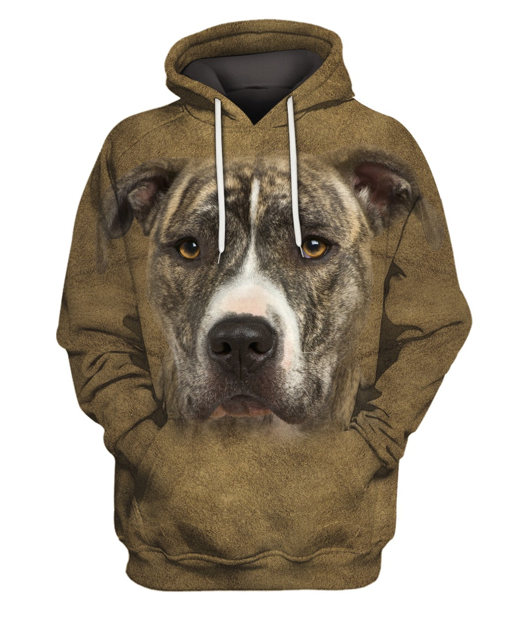 American Staffordshire Terrier Face Hair Hoodie