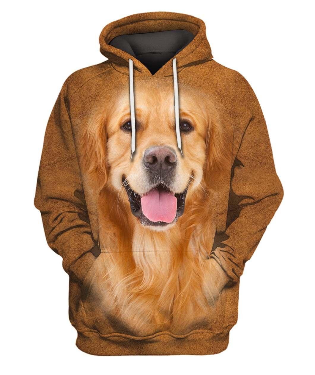 Golden Retriever Face Hair Hoodie