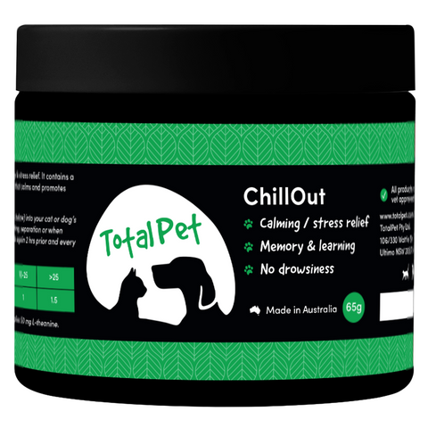 ChillOut for Dogs and Cats - CALMING/ANTI-ANXIETY - Total Animal Health