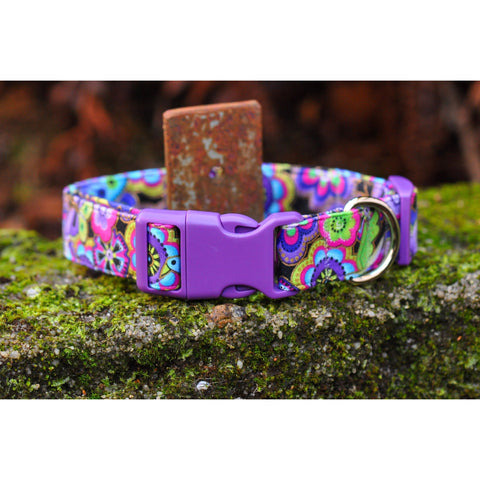 Floral Fantasy Collar - Purple - For Dogs - Nuts About Mutts