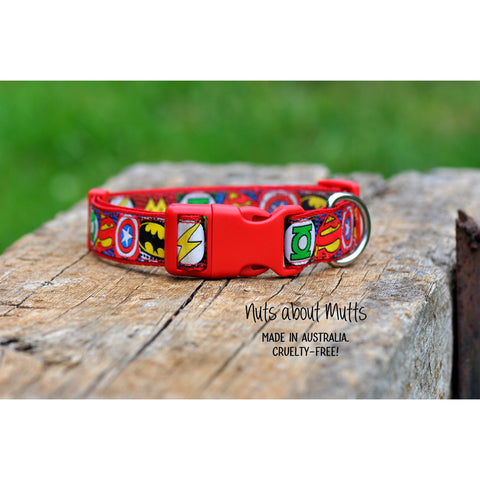 Super Heroes Collar - For Dogs - Nuts About Mutts