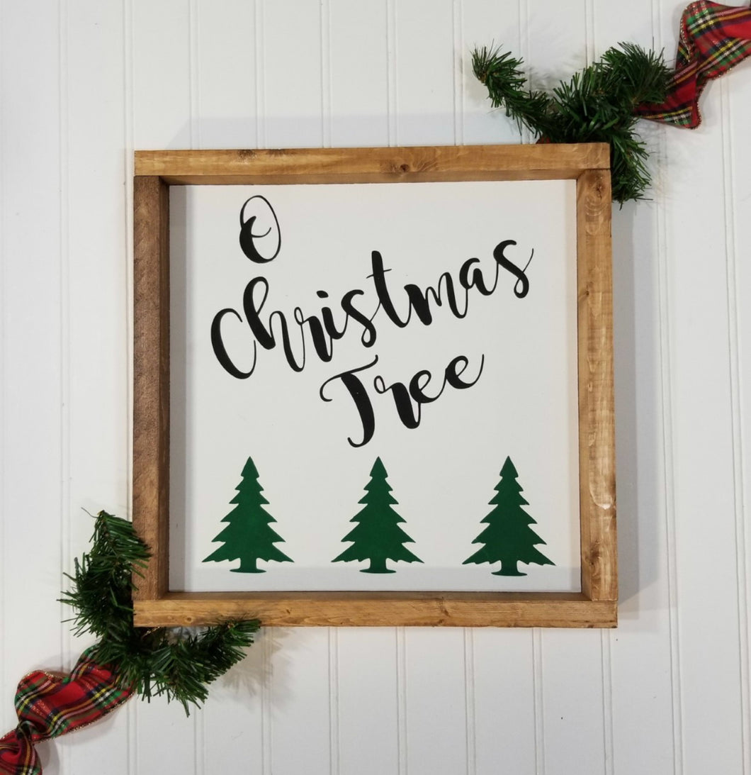O Christmas Tree Farmhouse Christmas Decor Sign 12
