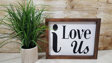 "i Love Us Framed Farmhouse Wood Sign 12"" x 9"""