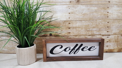 Coffee Framed Farmhouse Wood Sign 3