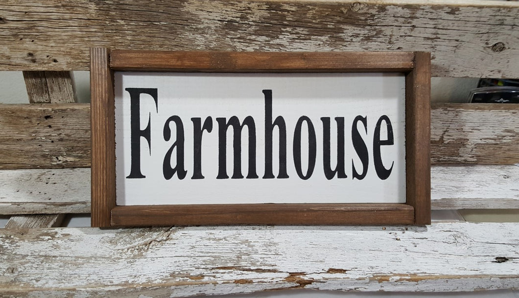 Farmhouse Framed Wood Kitchen Sign 5