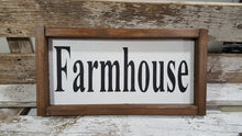"Farmhouse Framed Wood Kitchen Sign 5"" x 12"""