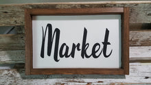 "Market Framed Handmade Farmhouse Wood Kitchen Sign 7"" x 12"""