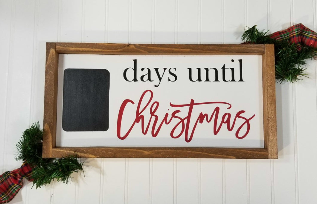 Days Until Christmas Framed Farmhouse Wood Sign 7