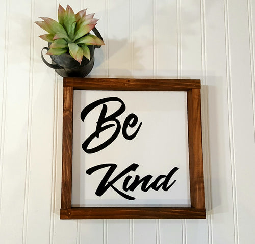 Be Kind Sign Farmhouse Framed Wood Sign 9
