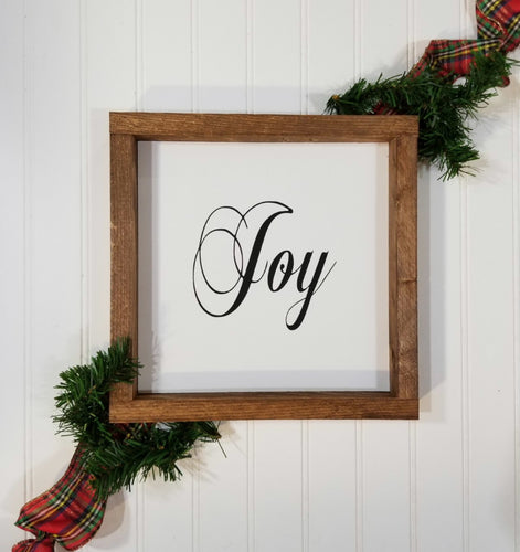 Joy Christmas Farmhouse Wood Framed Sign 9