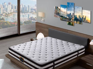 Sleepnetics Brown Crystal Individual Pocketed Spring Mattress - The Mattress Boutique