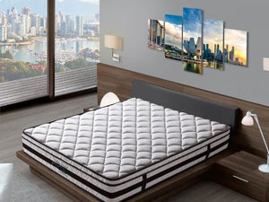 Sleepnetics White Crystal Latex Individual Pocketed Spring Mattress - The Mattress Boutique